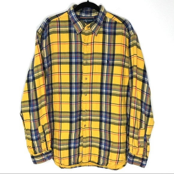 Polo by Ralph Lauren Other - Polo Ralph Lauren XL Classic Yellow Plaid Flannel